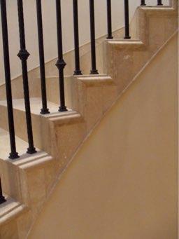 Travertine Staircase Detail